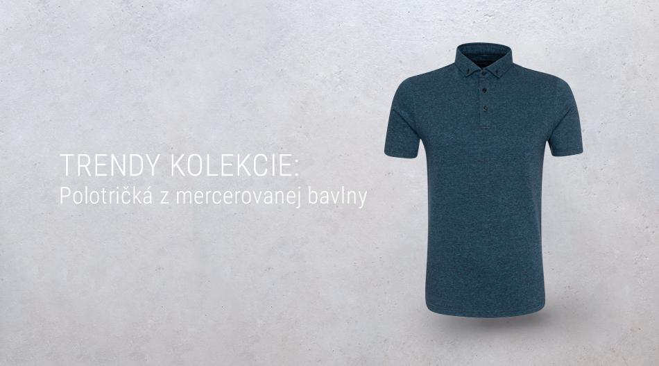 Trendy kolekcie - Polotričká z mercerovanej bavlny