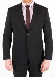 Obklekové sako formal slim, farba čierna
