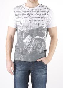 Pánske tričko jeans slim, farba biela