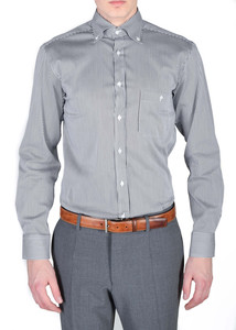 Pánska košeľa informal regular, farba čierna, biela