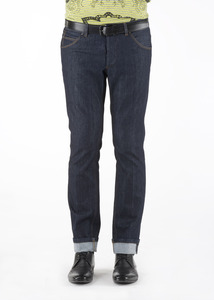 Pánske nohavice informal slim, farba modrá