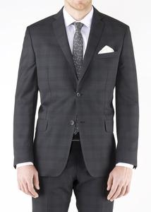 Obklekové sako formal slim, farba sivá