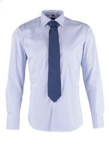 Košeľa formal slim, farba modrá, biela