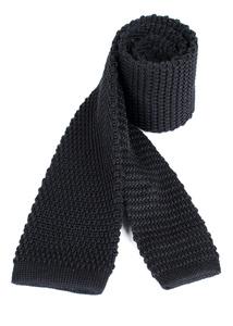 Kravata formal slim, farba čierna