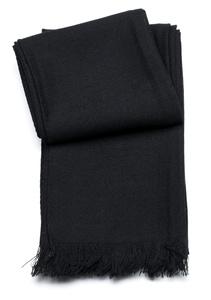 Šál informal , farba čierna