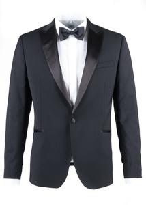 Pánske sako formal slim, farba čierna