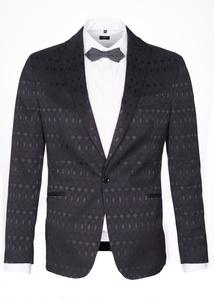 Pánské sako formal slim, farba čierna
