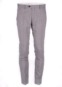 Pánske nohavice informal slim, farba sivá
