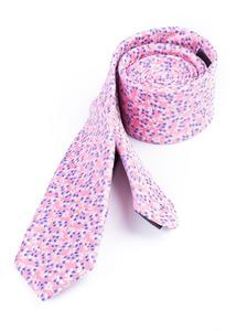 Kravata formal slim, farba růžová