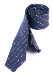 Kravata informal slim, farba modrá