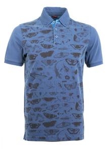 Polo triko informal regular, farba modrá