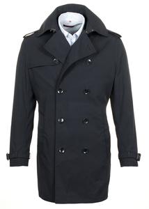Plášť informal regular, farba čierna