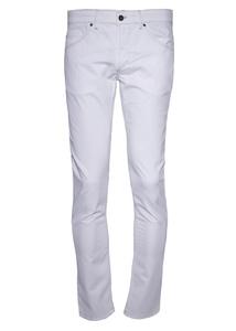 Pánske nohavice informal slim, farba biela