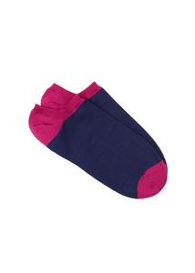 Ponožky informal , farba vínová