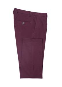 Pánske nohavice informal , farba vínová
