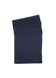 Šál informal , farba čierna, modrá