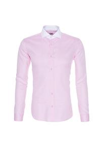 Pánska košeľa formal , farba ružová, biela