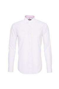 Pánska košeľa  , farba červená, bílá