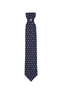 Kravata formal , farba modrá, biela