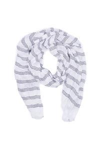 Pánsky šál informal , farba biela, čierna
