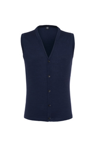 Pletená vesta formal , farba modrá
