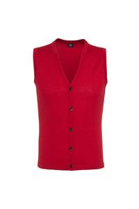 Pletená vesta formal , farba červená
