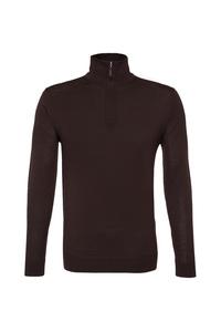 Pánsky sveter informal , farba hnedá