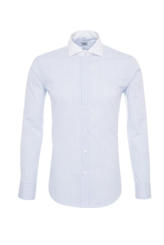 Pánska košeľa formal , farba modrá, biela