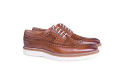 Pánska módna obuv  casual , farba hnedá