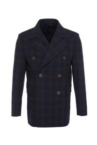 Pánsky plášť formal , farba hnedá, modrá