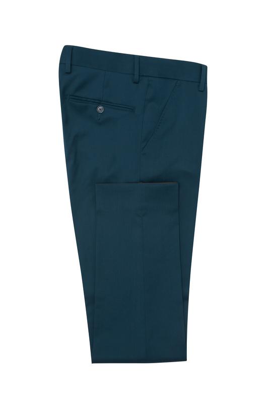 Pánske oblekové nohavice formal , farba tyrkysová