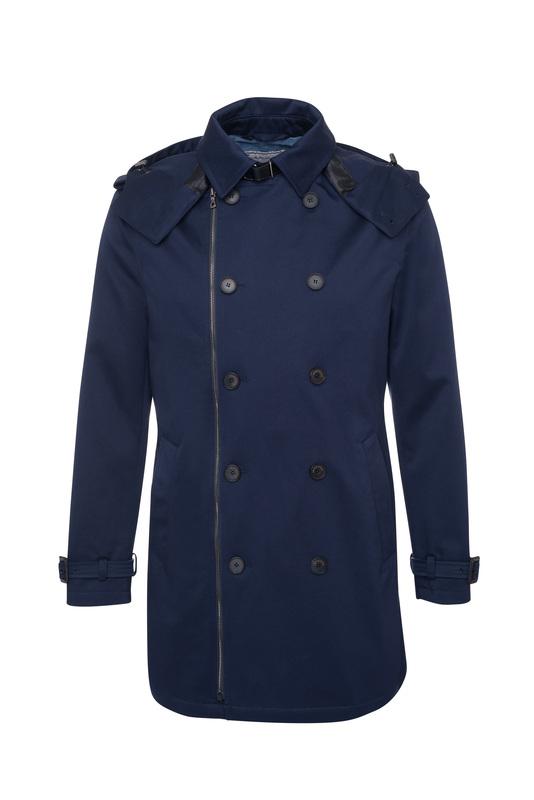 Pánsky plášť informal , farba modrá