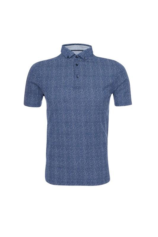 Pánske polo tričko casual , farba modrá