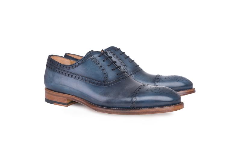 Pánska módna obuv  informal , farba modrá