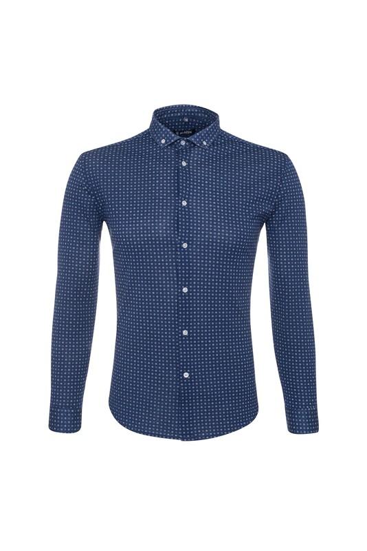 Pánska košeľa informal , farba modrá