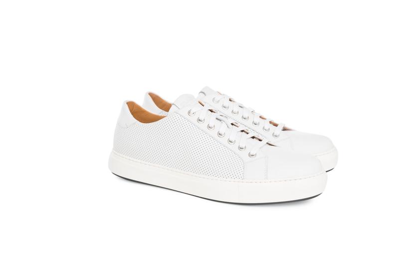 Pánska módna obuv  jeans , farba biela