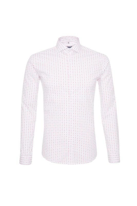 Pánska košeľa informal , farba ružová, biela