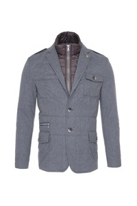 Pánska bunda informal , farba sivá