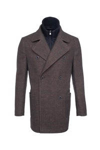 Pánsky plášť informal , farba hnedá