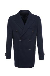 Pánsky plášť formal , farba modrá