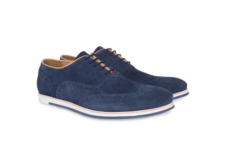 Pánska módna obuv jeans , farba modrá