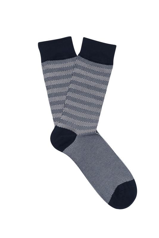 Ponožky informal , farba modrá, biela