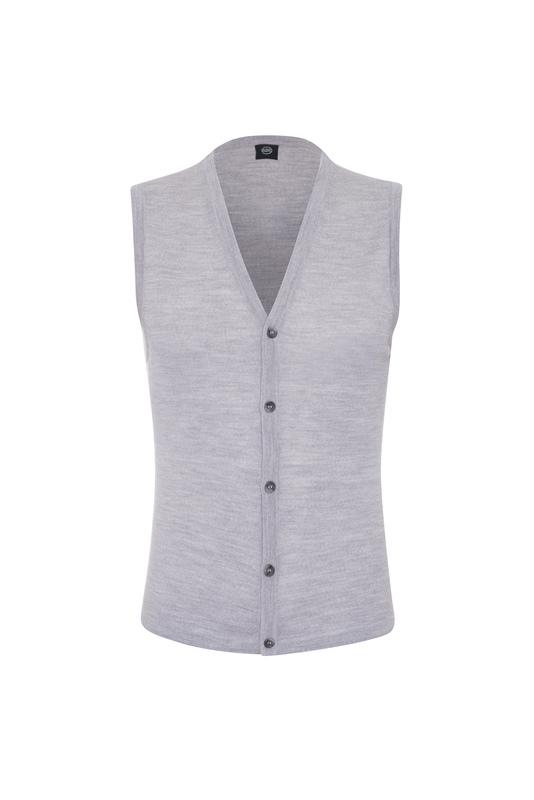 Pletená vesta formal , farba sivá