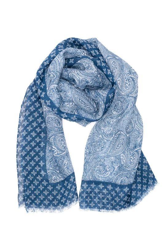 Pánsky šál casual , farba modrá
