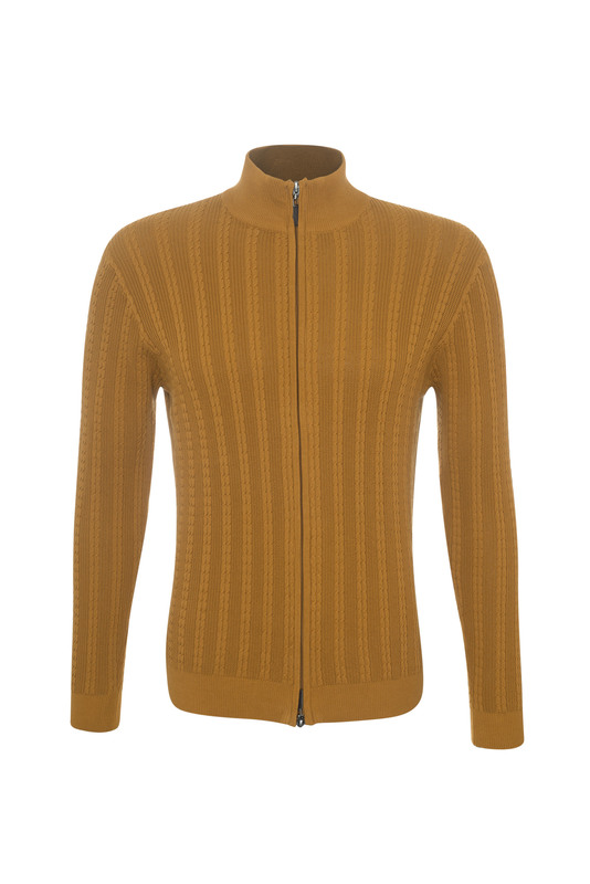 Pánsky sveter casual , farba svetlo hnedá