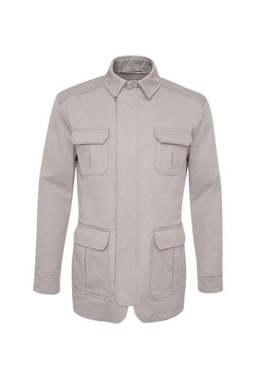 Pánsky plášť casual , farba béžová