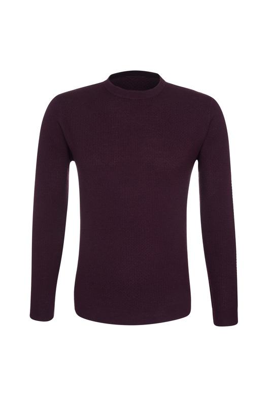 Pánsky sveter  , farba vínová