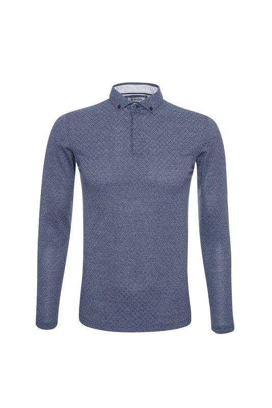 Pánske pánske triko  , farba modrá