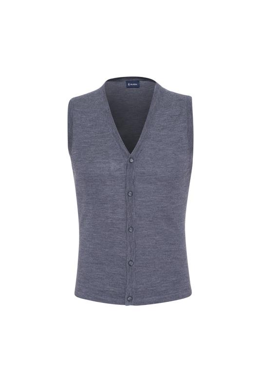 Pletená vesta  , farba sivá
