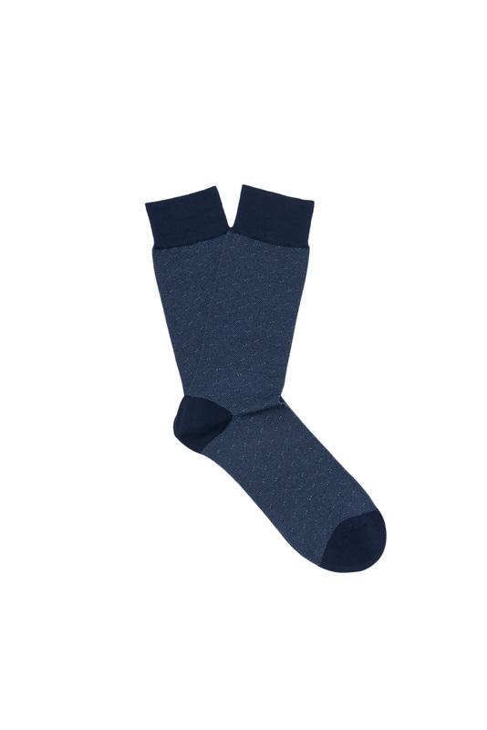 Ponožky  , farba modrá, biela